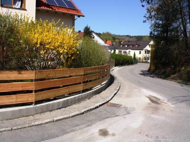 Holzzaun bei Landshut