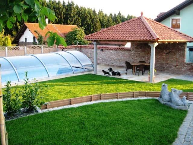 Pool Garten bei Landshut mit Dach